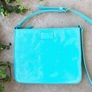 Kate Spade Turquoise Patent Heart Crossbody Bag